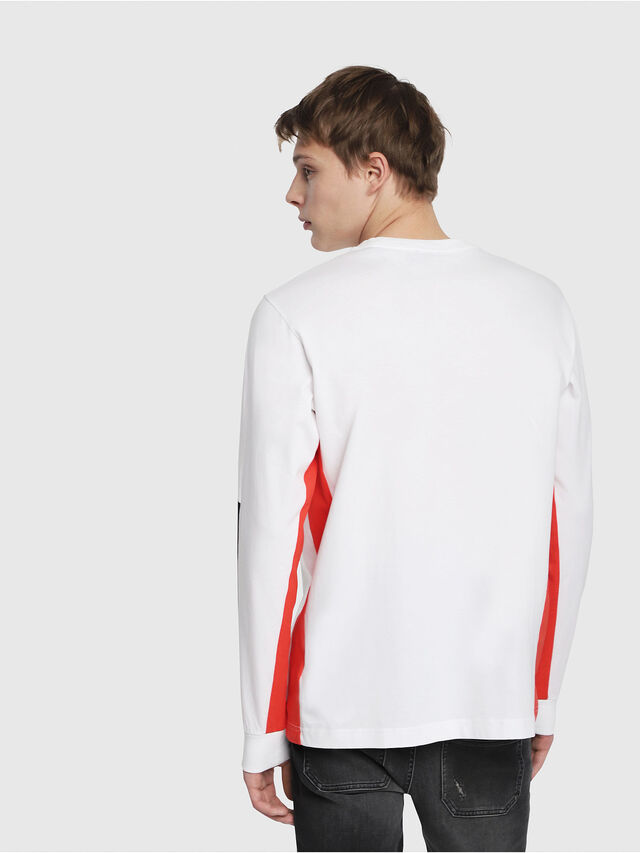Diesel - T-HARUS-LS, White - T-Shirts - Image 2