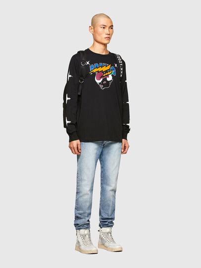 Diesel - CL-T-JUST-LS-O, Black - T-Shirts - Image 7