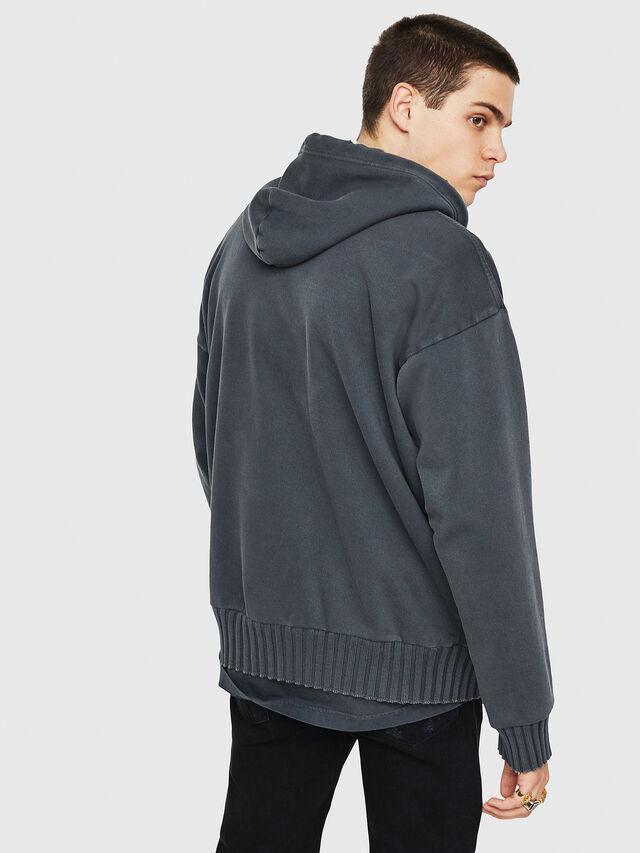 Diesel - DXF-S-ALBY, Black/Grey - Sweaters - Image 2