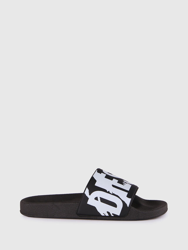 Diesel SA-MARAL, Black/White - Slippers - Image 1