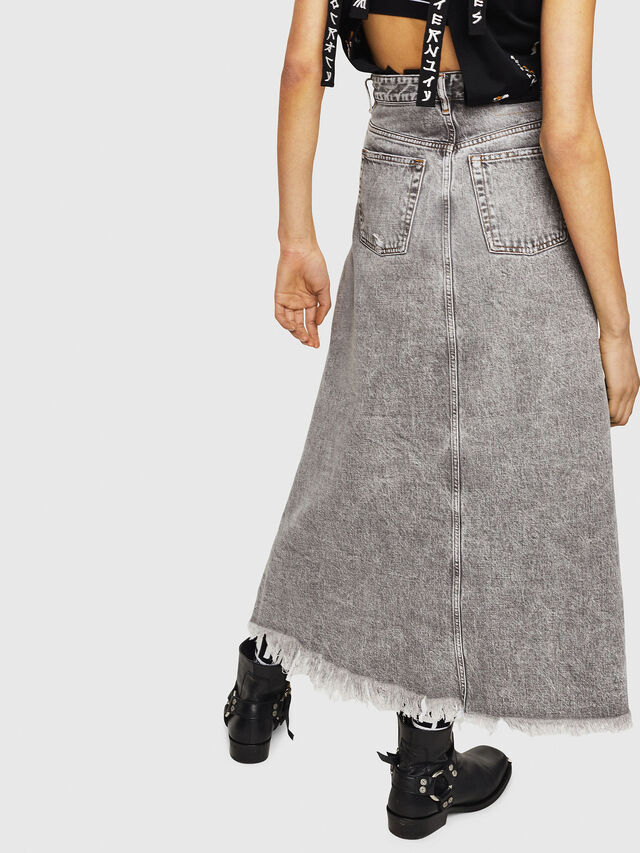 Diesel - DE-MARGY, Light Grey - Skirts - Image 2