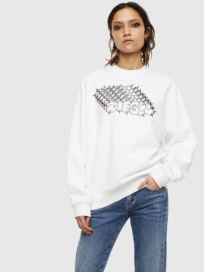 Diesel - F-ANG-S2, White - Sweaters - Image 1