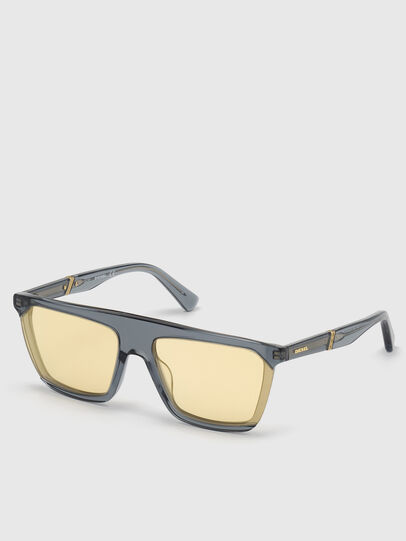 Diesel - DL0323, Black/Yellow - Sunglasses - Image 2