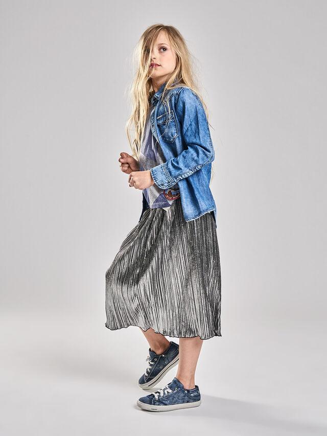 Diesel - GLOBI, Silver - Skirts - Image 1