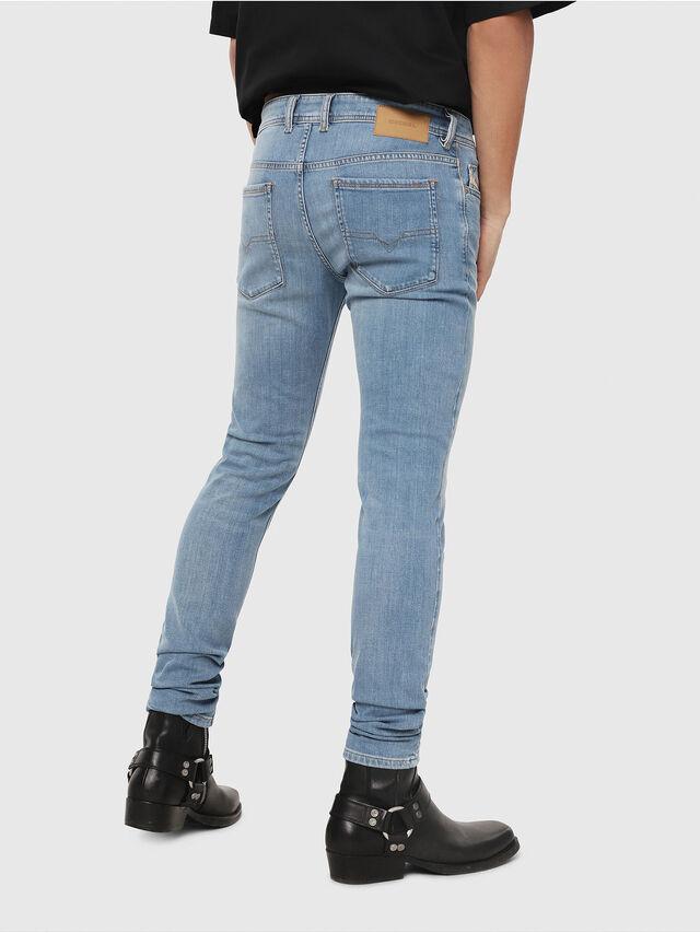Diesel - Sleenker 086AK, Light Blue - Jeans - Image 2