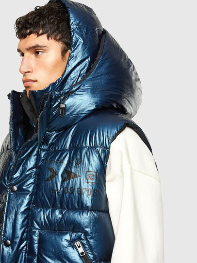 Diesel - W-SELLERS, Blue - Winter Jackets - Image 3