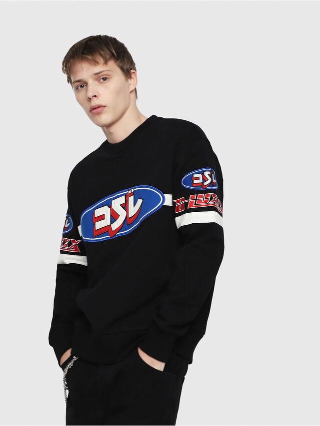 Diesel - S-BAY-YF, Multicolor/Black - Sweaters - Image 1