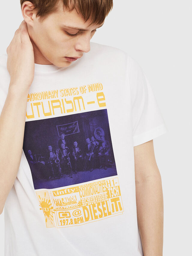 Diesel - T-JUST-Y16, White - T-Shirts - Image 4