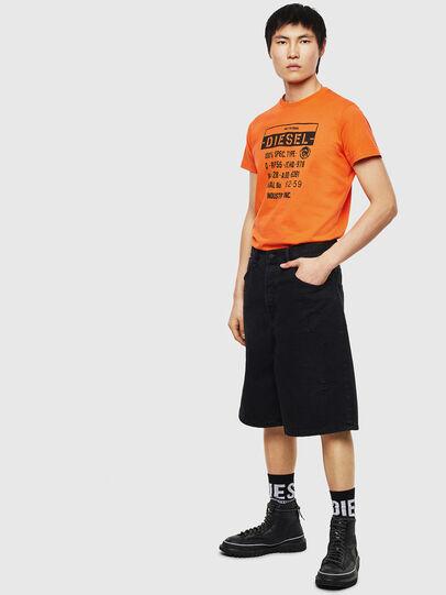 Diesel - T-DIEGO-S1, Orange - T-Shirts - Image 4