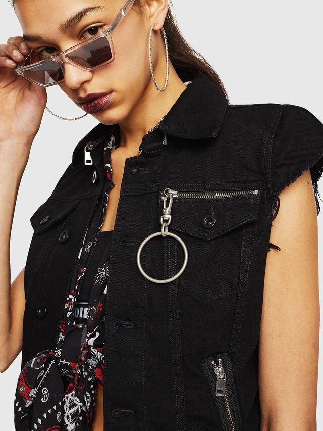Diesel - DE-BILLY, Black Jeans - Vests - Image 3