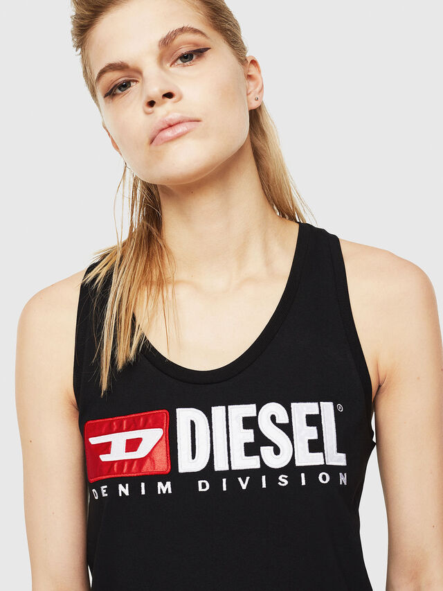 Diesel - T-SILK, Black - Tops - Image 3