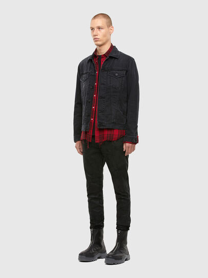 Diesel - S-EAST-LONG-TUB, Black/Red - Shirts - Image 5