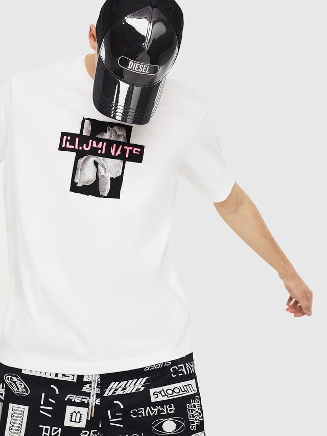 Diesel - T-JUST-Y23, White - T-Shirts - Image 4
