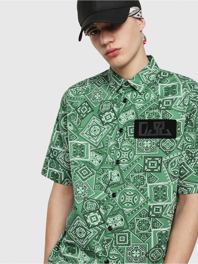 Diesel - S-FRY-NP, Green - Shirts - Image 3
