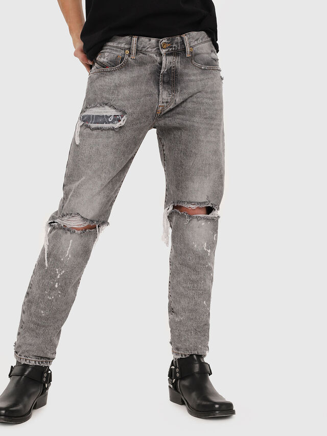 Diesel - Mharky 089AT, Light Grey - Jeans - Image 1