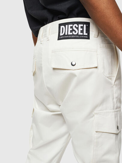 Diesel - P-JARED-CARGO, White - Pants - Image 3