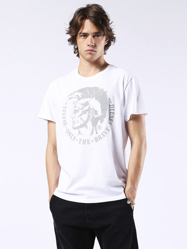 Diesel - T-DIEGO-FO, White/Silver - T-Shirts - Image 1
