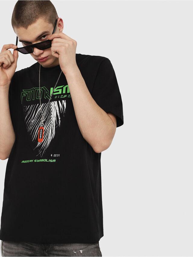 Diesel - T-JUST-Y25, Black - T-Shirts - Image 1