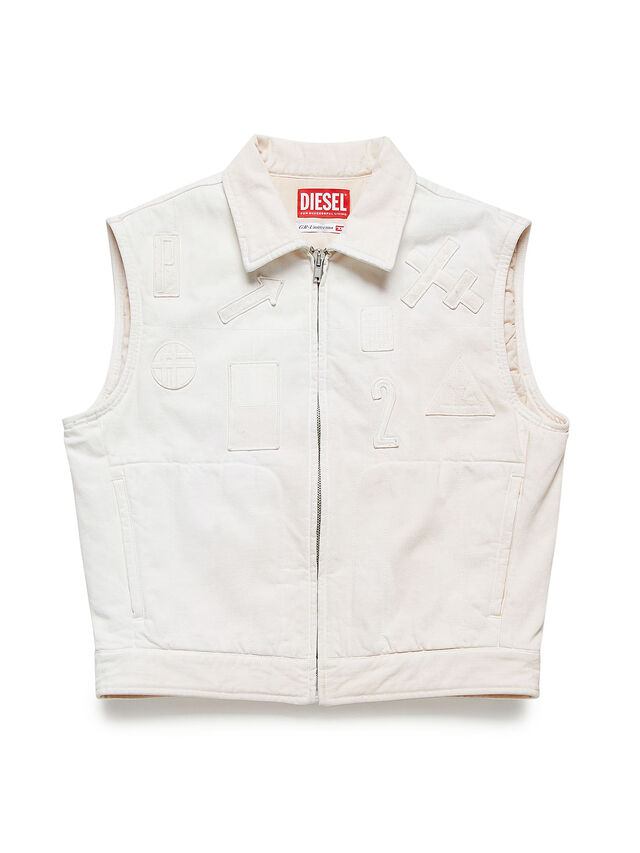 Diesel - GR02-J303, White - Denim Jackets - Image 1