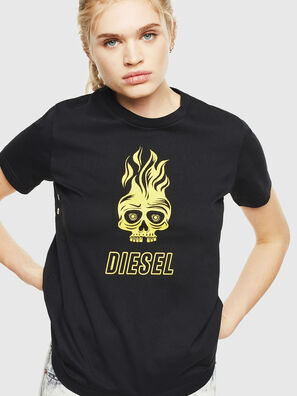 T-SILY-WQ, Black/Yellow - T-Shirts