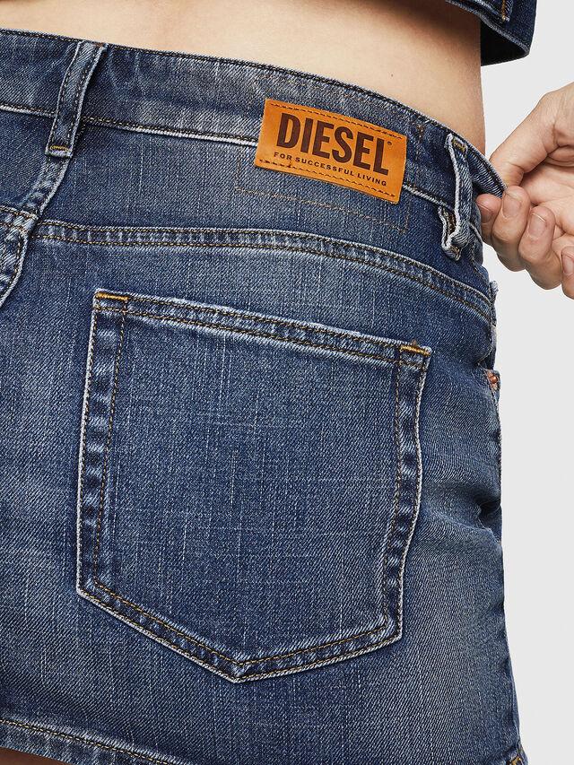 Diesel - DE-EISY, Blue Jeans - Skirts - Image 5