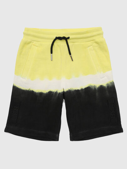 Diesel - PTOXDEEP, Black/Yellow - Shorts - Image 1