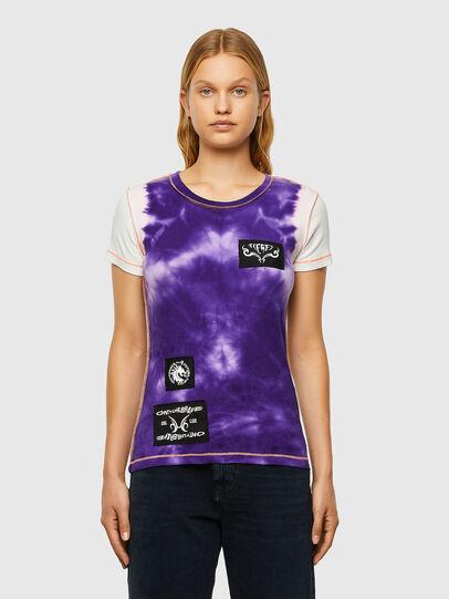 Diesel - T-SUPERY-V10, White/Violet - T-Shirts - Image 1