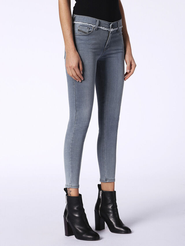 SLANDY-ANKLE-W 084QB, Blue Jeans