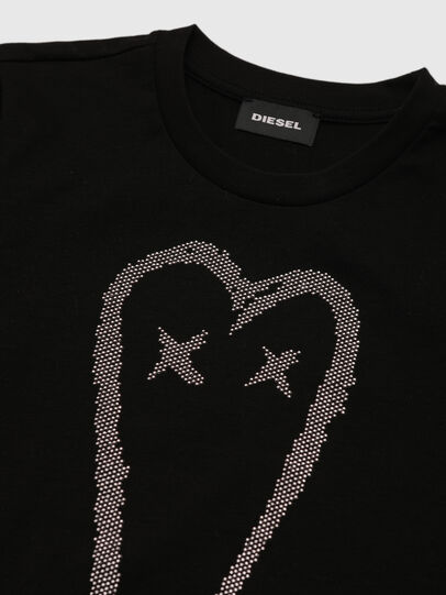 Diesel - TSILYHEART, Black - T-shirts and Tops - Image 3