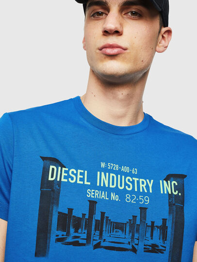 Diesel - T-DIEGO-S13, Blue - T-Shirts - Image 3