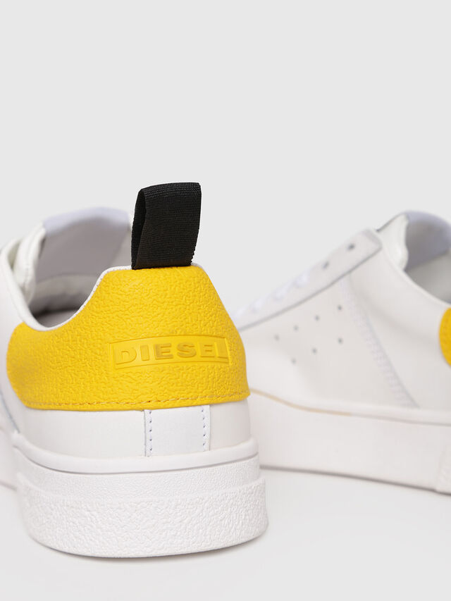 Diesel - S-CLEVER LOW W, White/Yellow - Sneakers - Image 4