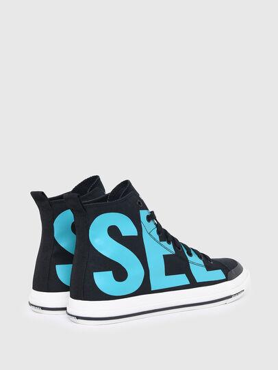 Diesel - S-ASTICO MID CUT, Black/Blue - Sneakers - Image 3