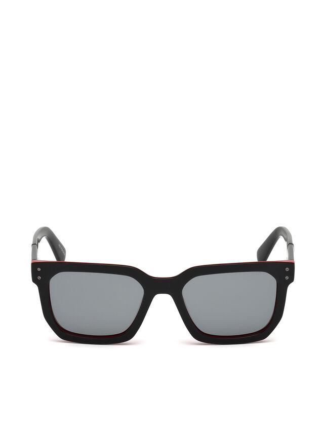 Diesel - DL0253, Black/Red - Sunglasses - Image 1