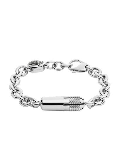 Diesel - BRACELET DX1024, Silver - Bracelets - Image 1