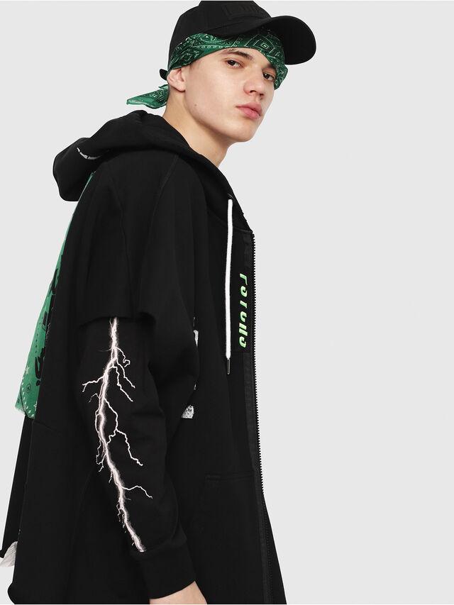Diesel - S-MAKI-ZIP, Black/Green - Sweaters - Image 3