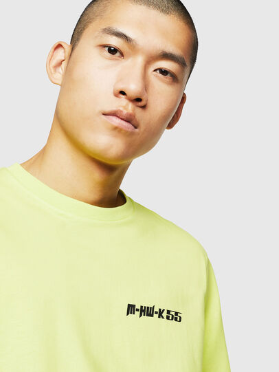 Diesel - T-JUST-B31, Yellow Fluo - T-Shirts - Image 3
