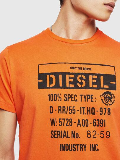 Diesel - T-DIEGO-S1, Orange - T-Shirts - Image 3