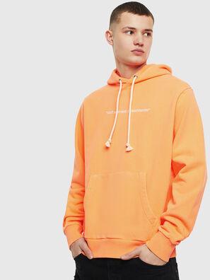 S-GIRK-HOOD-FLUO, Orange - Sweaters