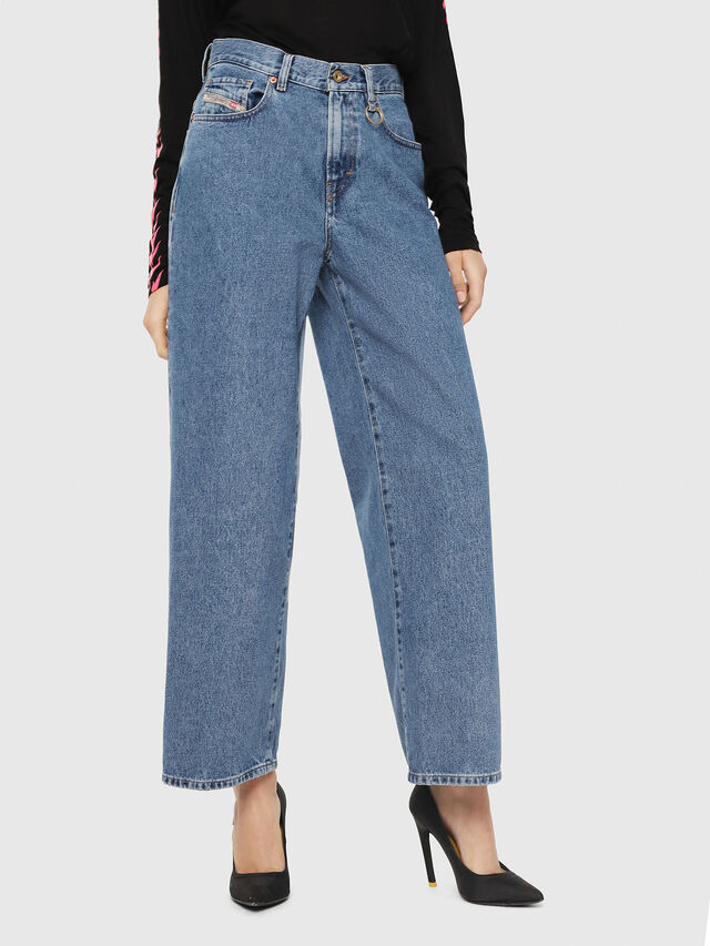 Diesel - Widee 0077V, Medium blue - Jeans - Image 1
