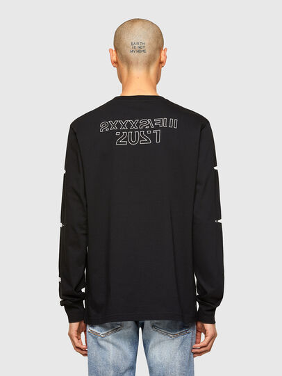 Diesel - CL-T-JUST-LS-O, Black - T-Shirts - Image 3