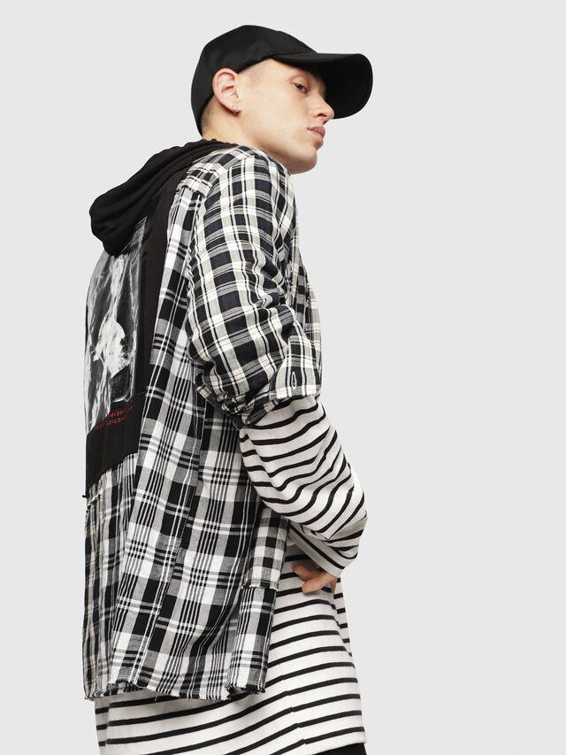 Diesel - S-MICHI, Black/White - Shirts - Image 3