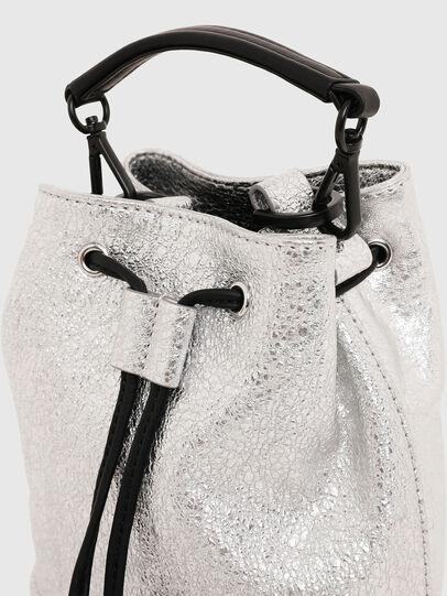 Diesel - BUCKETTINO, Silver - Crossbody Bags - Image 6