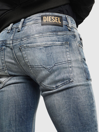 Diesel - Sleenker 0098D, Light Blue - Jeans - Image 3