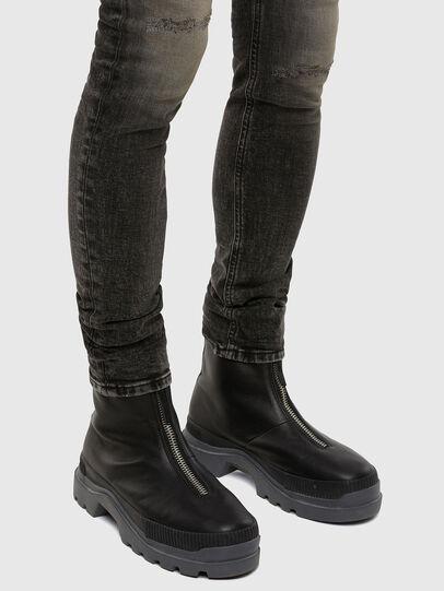 Diesel - Sleenker 009JF, Black/Dark grey - Jeans - Image 5