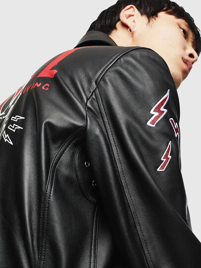 Diesel - CL-L-GOTIV-LITM, Black - Leather jackets - Image 3