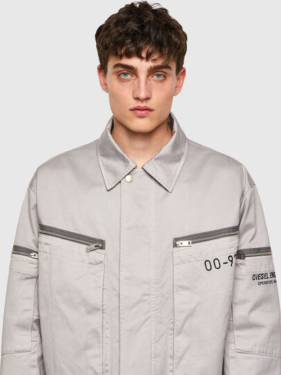 Diesel - J-THOMPSON-A, Light Grey - Jackets - Image 3