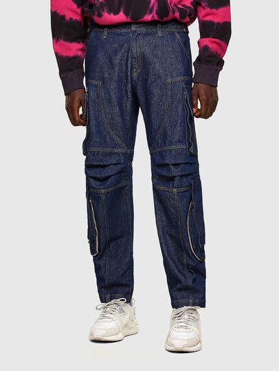 Diesel - D-KARGO, Medium blue - Pants - Image 1