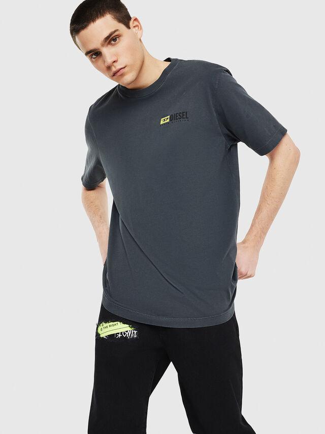 Diesel - DXF-T-JUST, Black/Dark grey - T-Shirts - Image 1