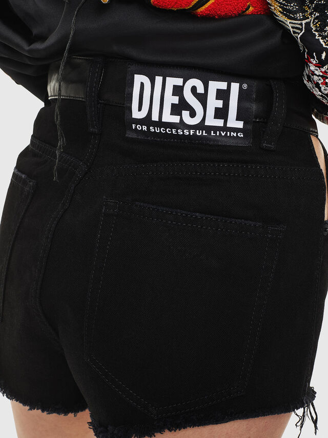 Diesel - DE-ELVIS, Black - Shorts - Image 3