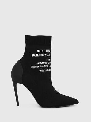 D-SLANTY HAB, Black - Ankle Boots